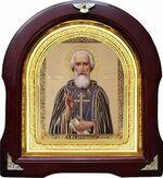 Сергий Радонежский. Аналойная арочная икона (А-56)