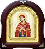 Умягчение злых сердец Б.М. Аналойная арочная икона (А-64)