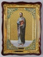 Апостол Иаков Алфеев, в фигурном киоте, с багетом. Храмовая икона (60 Х 80)
