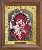 Жировицкая Б.М. Икона в деревянной рамке с окладом (Д-26псо-121)