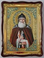 Илья Муромец, в фигурном киоте, с багетом. Храмовая икона (60 Х 80)