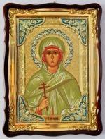 Зинаида, Св. муч., в фигурном киоте, с багетом. Храмовая икона 60 Х 80 см
