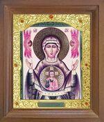 Знамение Б.М. Икона в деревянной рамке с окладом (Д-26псо-122)