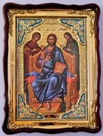 Царь Славы (2), в фигурном киоте, с багетом. Храмовая икона (60 Х 80)