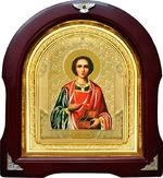 Пантелеймон. Аналойная арочная икона (А-48)