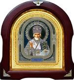 Николай Чудотворец. Аналойная арочная икона (А-28)