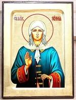 Ксения Петербургская, икона Греческая, 17 Х 23