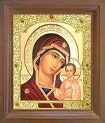 Казанская Б.М. Икона в деревянной рамке с окладом (Д-26псо-13)