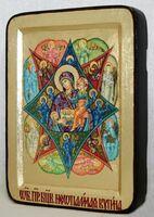 Неопалимая Купина Б.М., икона Греческая, 13 Х 17