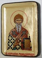 Спиридон Тримифунтский, икона Греческая, 13 Х 17