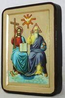 Троица Новозаветная, икона Греческая, 13 Х 17