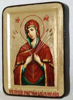 Умягчение злых сердец Б.М., икона Греческая, 13 Х 17
