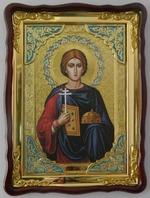 Валерий, Св. муч., в фигурном киоте, с багетом. Храмовая икона (60 Х 80)