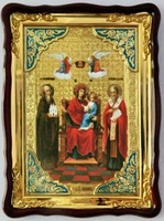 Экономисса, в фигурном киоте, с багетом. Храмовая икона (60 Х 80)