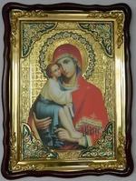 Донская Б.М., в фигурном киоте, с багетом. Храмовая икона (60 Х 80)