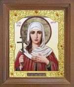Лариса Св. муч. Икона в деревянной рамке с окладом (Д-26псо-132)