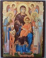 Экономисса Б.М., икона под старину JERUSALEM прямая (13 Х 17)