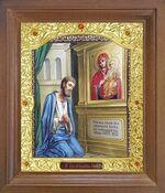 Нечаянная радость Б.М. Икона в деревянной рамке с окладом (Д-26псо-136)