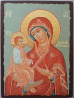 Троеручица Б.М., икона под старину JERUSALEM прямая (13 Х 17)
