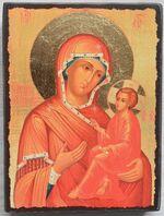 Тихвинская Б.М., икона под старину JERUSALEM прямая (13 Х 17)