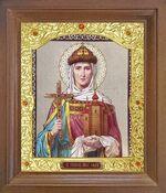 Ольга, Св.Р.Ап.Кн. Икона в деревянной рамке с окладом (Д-26псо-139)