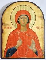 Ираида (Раиса) Александрийская, икона под старину JERUSALEM, арка (13 Х 17)