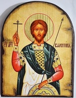 Валентин Св.Мч., икона под старину JERUSALEM, арка (13 Х 17)
