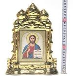 Серафим Саровский, Моление на камне, Икона в багетной рамке 14 Х 16, партия 20 шт.