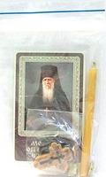 Оптинских старцев молитва. Набор для домашней молитвы (Zip-Lock). Лик, молитва, свечка, ладан, крестик