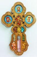 Крест подвесной деревянный (10) большой фигурный