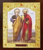 Петр и Павел. Икона в окладе средняя (Д-21-141)