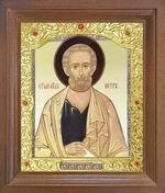 Апостол Петр. Икона в деревянной рамке с окладом (Д-26псо-142)