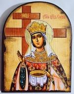 Елена Св.Рн.Ап.Цр. (крест), икона под старину JERUSALEM, арка (13 Х 17)