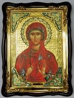 Валерия, Св. муч., в фигурном киоте, с багетом. Храмовая икона (60 Х 80)
