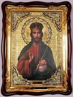 Господь Вседержитель, в фигурном киоте, с багетом. Храмовая икона (60 Х 80)