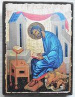 Апостол и Евангелист Марк, икона под старину JERUSALEM панорамная, с клиньями (13 Х 17)