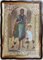 Усекновение главы Иоанна Предтечи, в фигурном киоте, с багетом. Храмовая икона 60 Х 80 см.