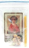 Ольга. Святая равноапостольная княгиня. Набор для домашней молитвы (Zip-Lock). Лик, молитва, свечка, ладан, крестик