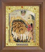 Сорок мучеников Севастийских. Икона в деревянной рамке с окладом (Д-26псо-151)