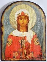Варвара Св.Муч., икона под старину JERUSALEM, арка (13 Х 17)