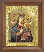 Страстная Б.М. Икона в деревянной рамке с окладом (Д-26псо-155)
