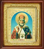 Николай Чудотворец, икона в деревянной рамке (Д-16пс-26)