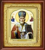 Николай Чудотворец, икона в деревянной рамке (Д-16пс-27)