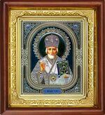 Николай Чудотворец, икона в деревянной рамке (Д-16пс-28)