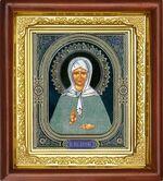 Матрона Московская, икона в деревянной рамке (Д-16пс-38)