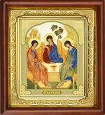 Троица, икона в деревянной рамке (Д-16пс-62)