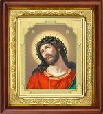 Спаситель в терновом венце, икона в деревянной рамке (Д-16пс-23)