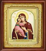 Владимирская Б.М, икона в деревянной рамке (Д-16пс-30)