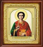 Пантелеймон, икона в деревянной рамке (Д-16пс-47)