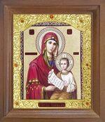Утоли моя печали Б.М. Икона в деревянной рамке с окладом (Д-26псо-160)